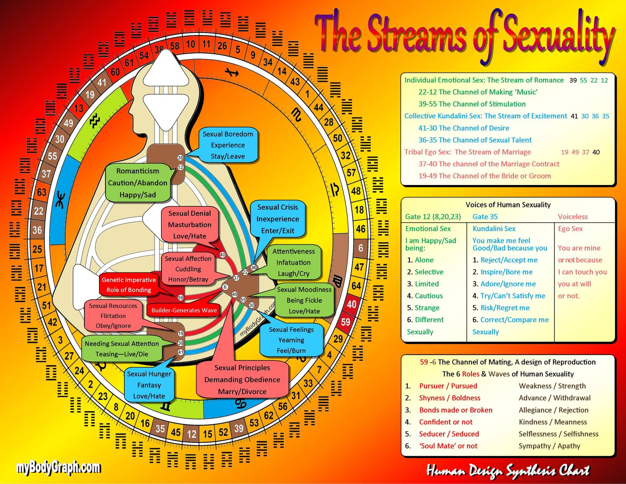Streams of Sexuality Human design, Human design system