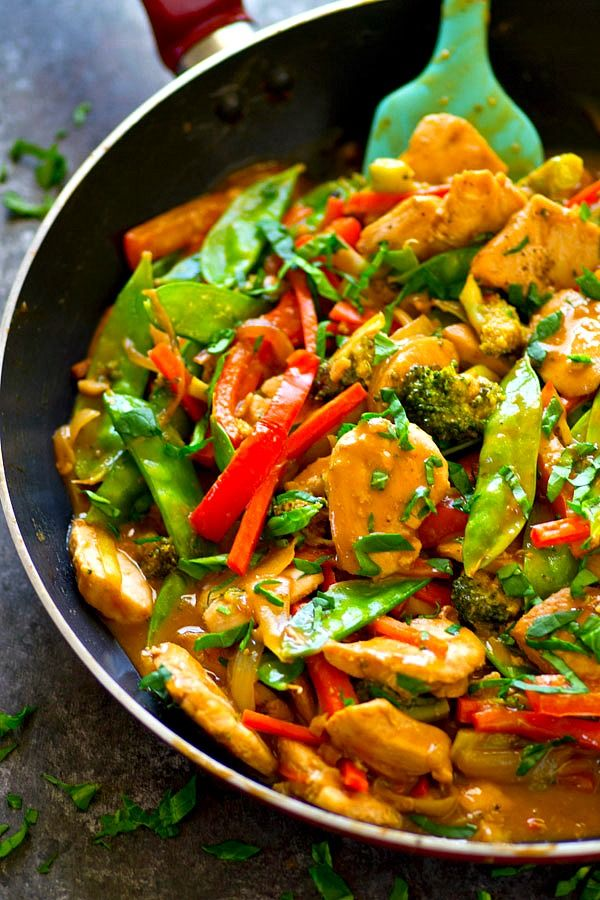 Peanut Satay Chicken Stir-Fry
