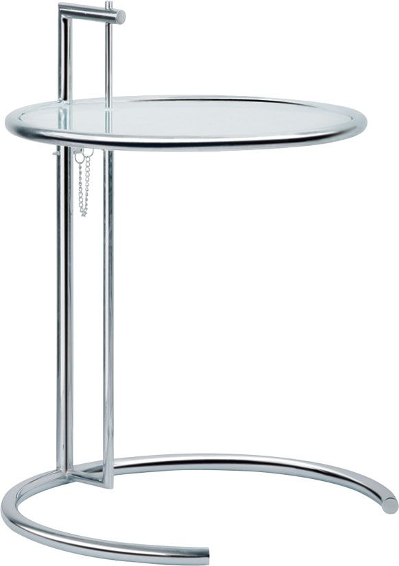 Eileen Gray Side Table With Tempered Glass TopEileen Gray End Table - Eileen gray end table