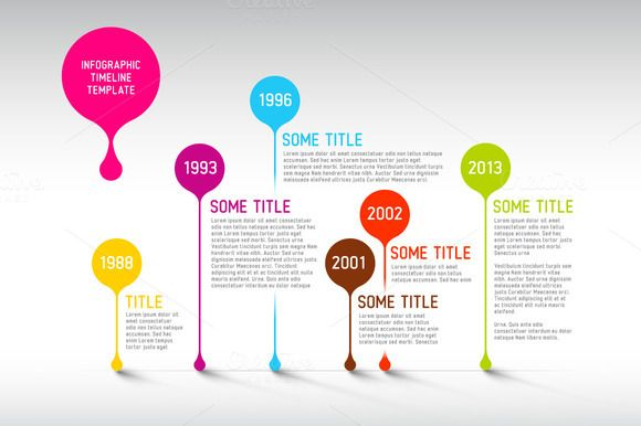 Vector Timeline Template By Orson On Creative Market  My Vector
