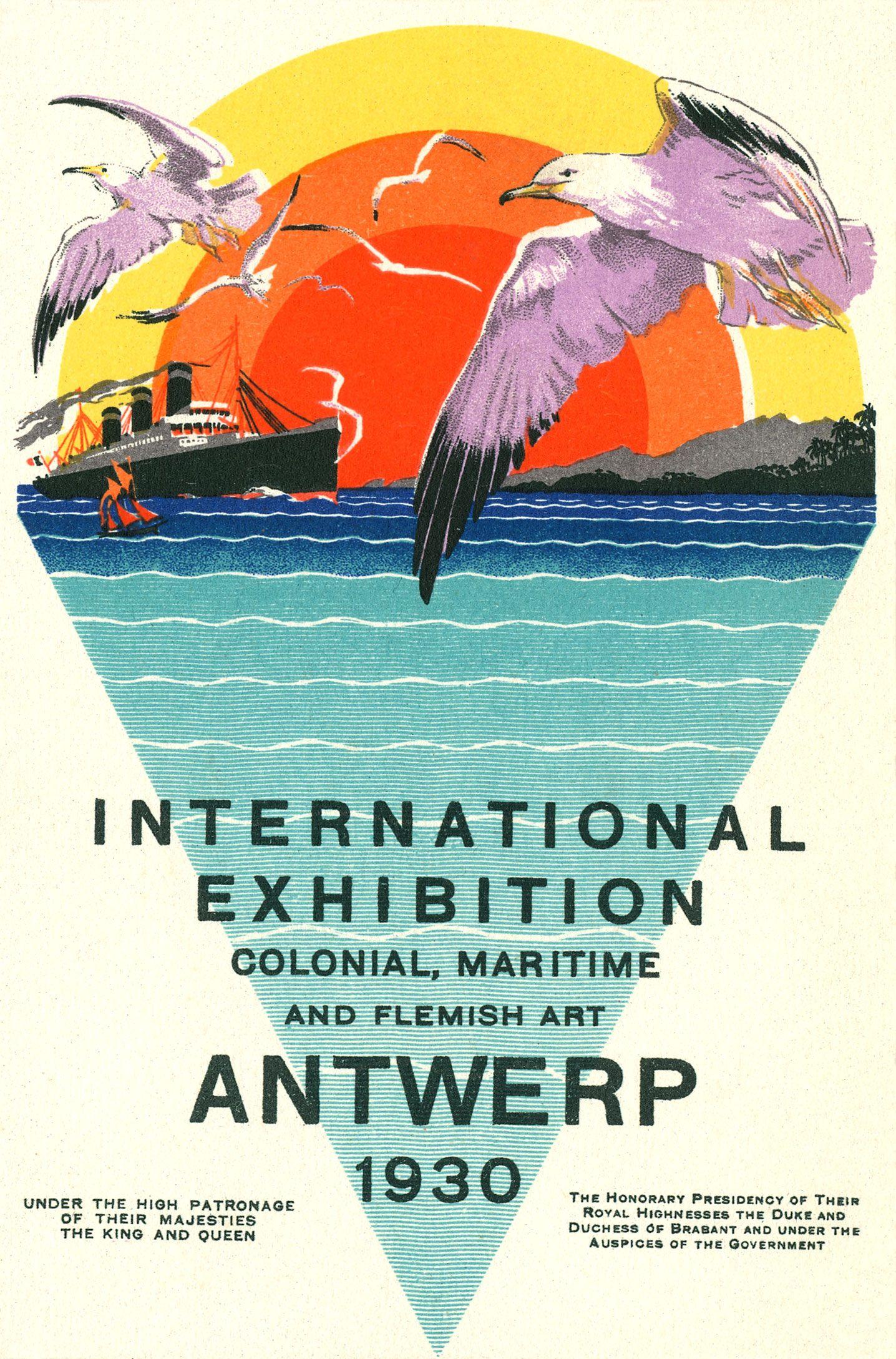 Antwerp Exhibition 1930 Poster Art Deco Antwerpen Deco