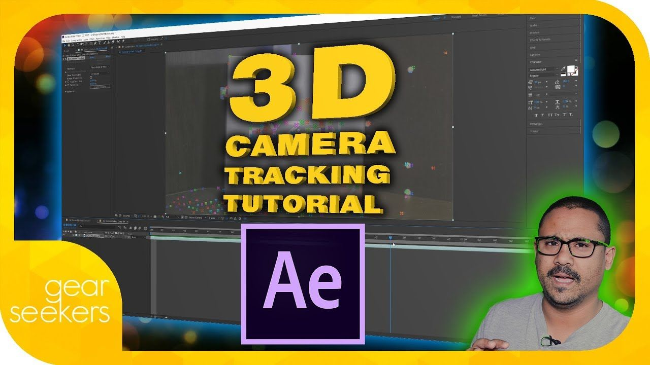 3d Camera Tracker Text Tracking In Adobe After Effects Cc 2017