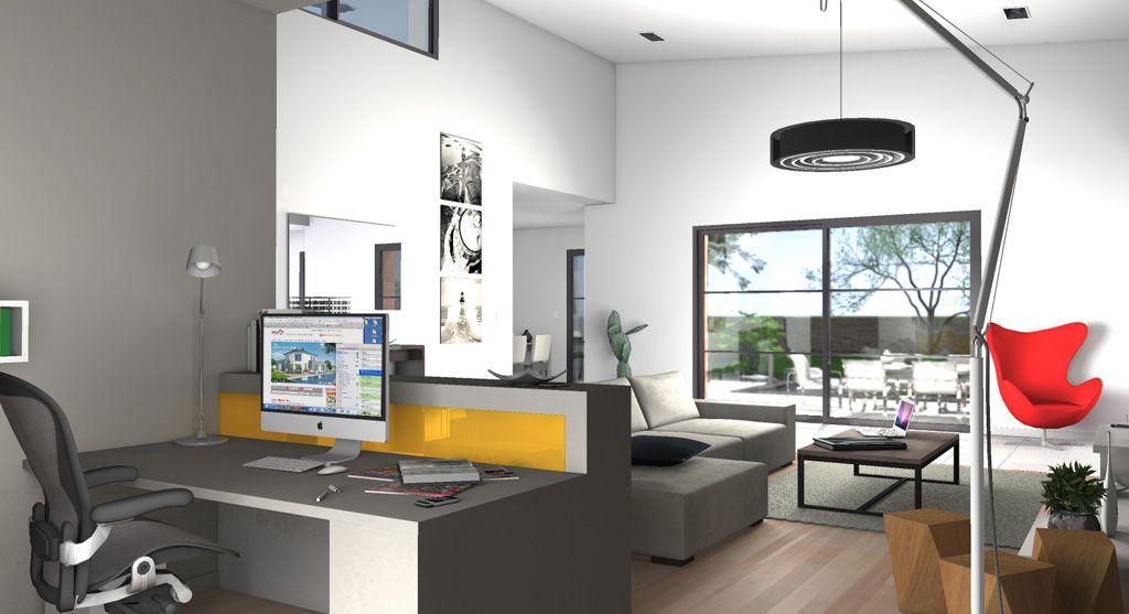 Bureau et salon maison futura eos nos intérieurs de maisons
