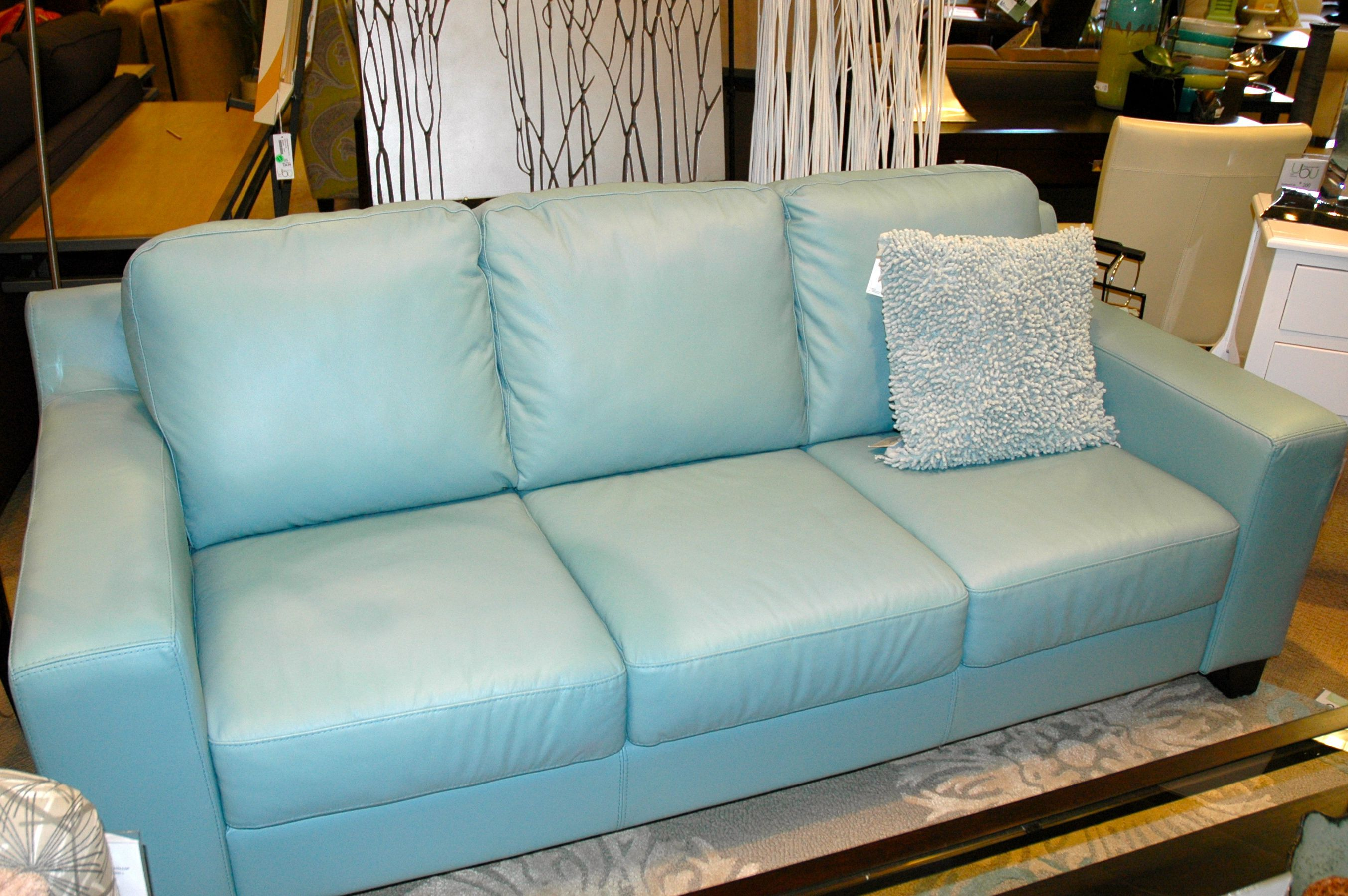 Light Blue Leather Sofa Blue Leather Sofa Blue Leather Couch