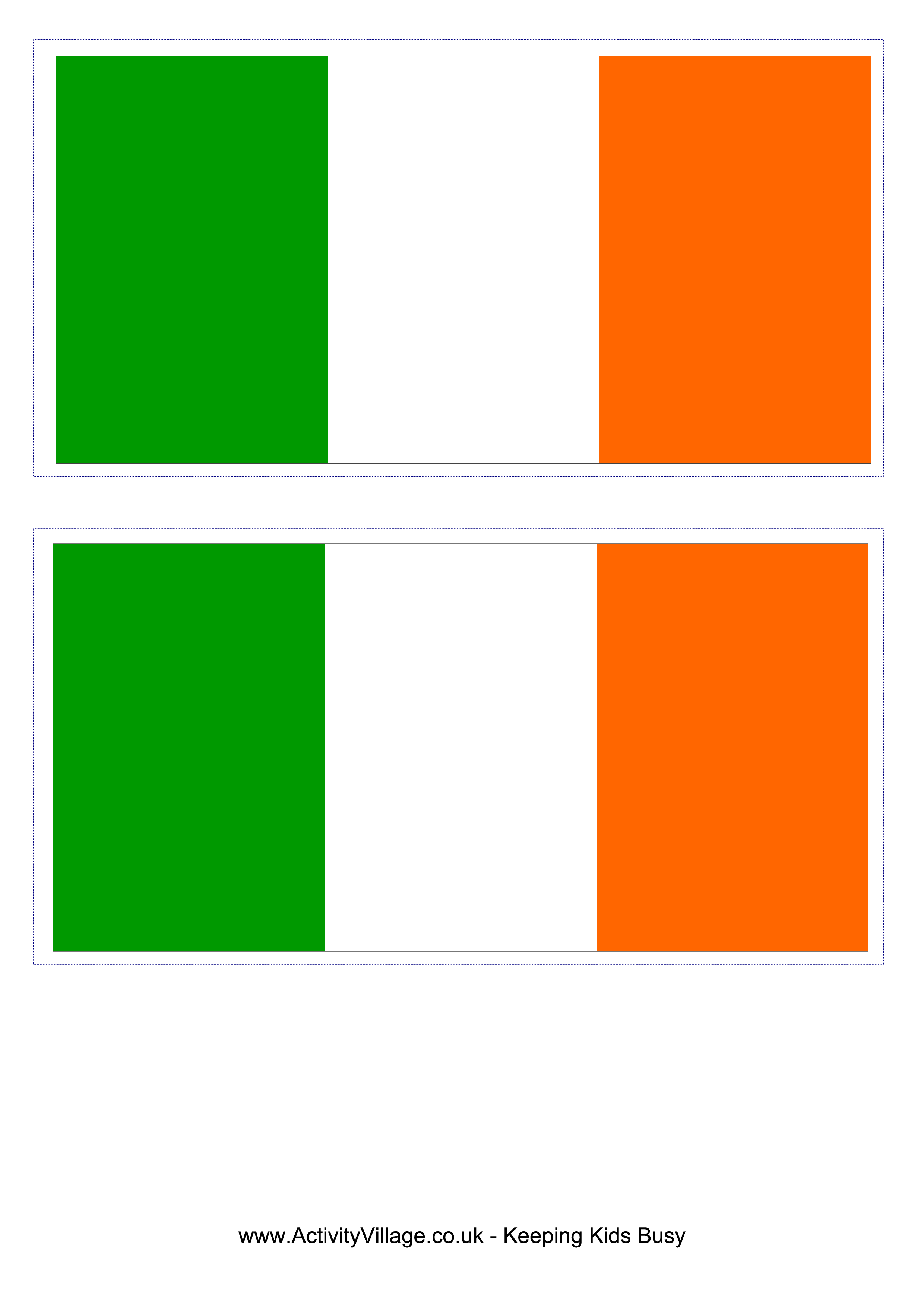 Download This Free Printable Irish Template A4 Flag A5 Flag 8 And 21 Flags On One A4page Easy To Use In Your O Irish Flag Flag Template Free Flag Printables