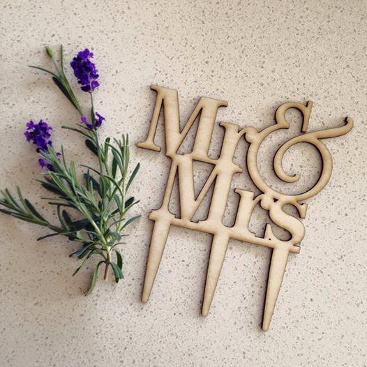 Mr Mrs Wooden Cake Topper Wedding Australia Express Postage