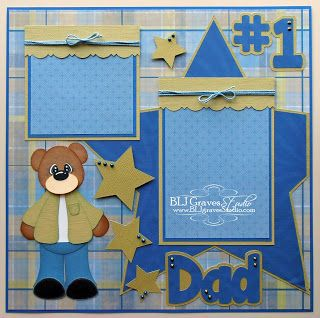 BLJ Graves Studio: Father's Day Dad Scrapbook Page