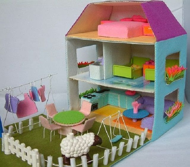 Image result for Toy Tutorials with Recycled Material How to make a dollhouse with a plastic container