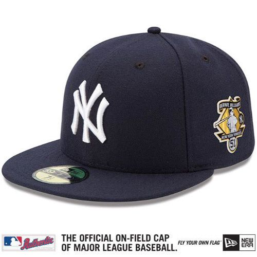 New York Yankees Authentic Collection On Field 59fifty Game Cap W Bernie Williams Commemorative Retirement Patch Fitted Hats New Era New York Yankees