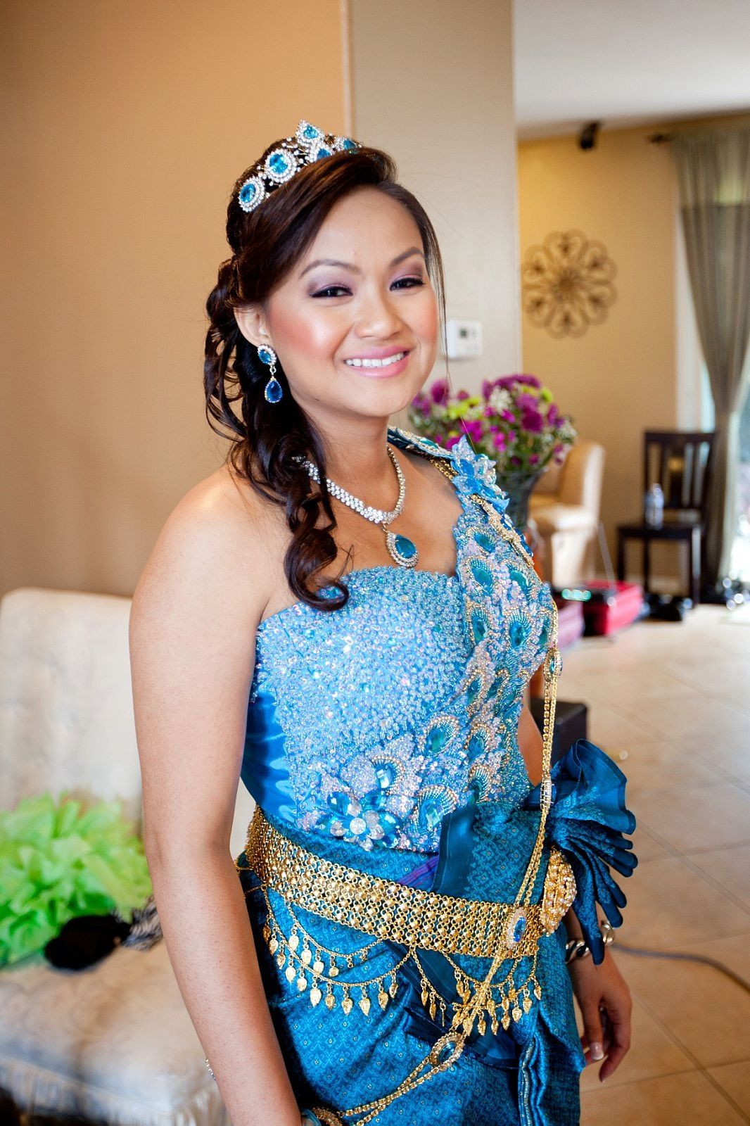 Khmer Khmer Beautiful Blue Dresses
