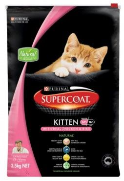 Supercoat Kitten Kittens Natural Energy Cat Food