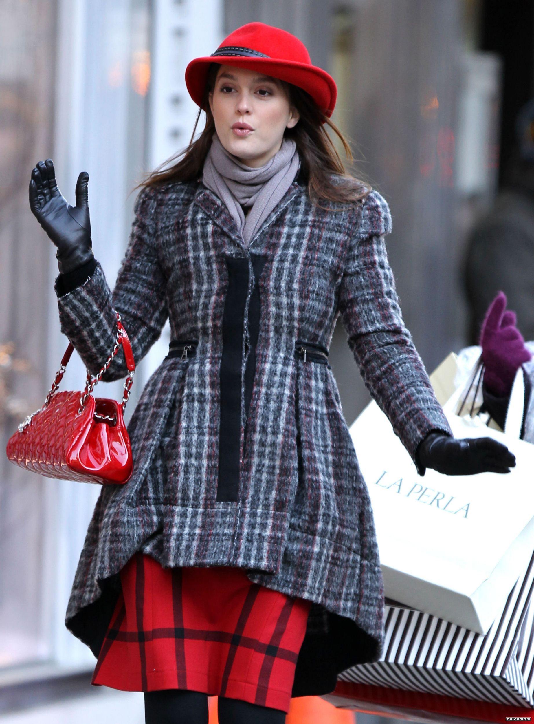 blair waldorf in flawless winter look gossip girl
