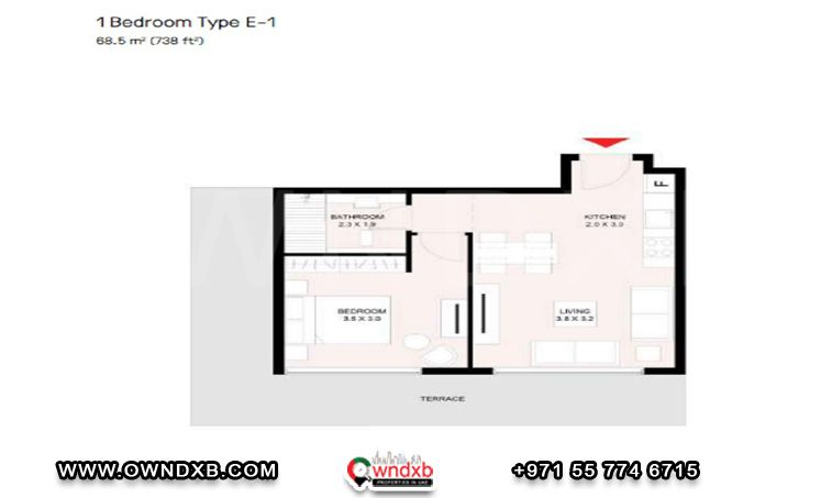 Floor Plan Of The Riff 3 By Arada Property Developer In 2021 Property Development Urban Living Floor Plans