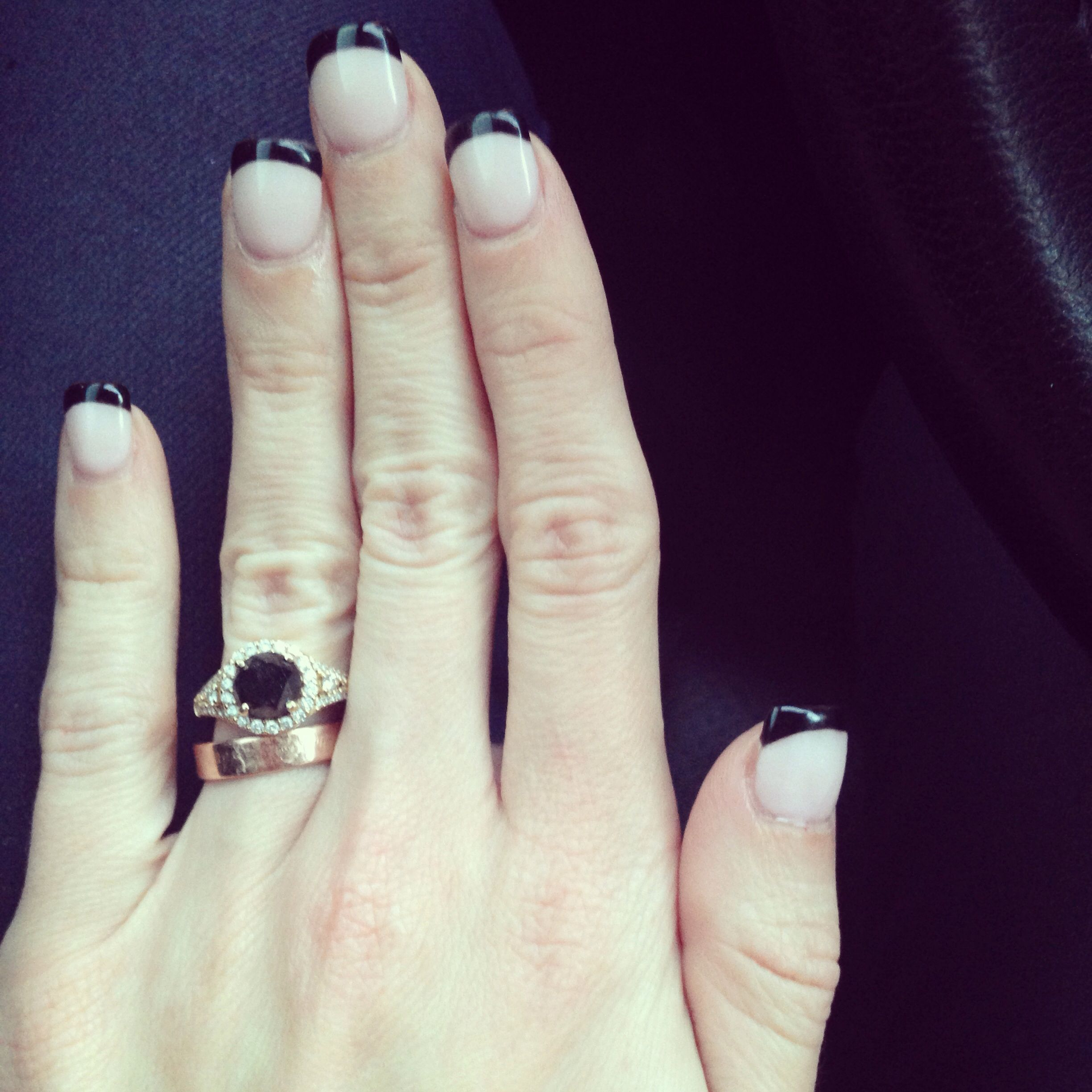 Nude nails with black tips, elite nails in gilbert az! | hair and ...