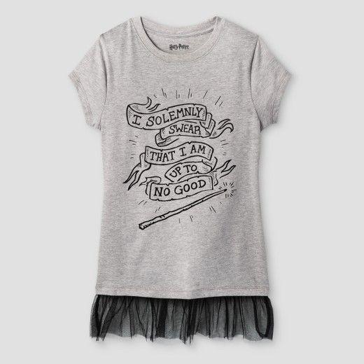 Girls 39 Harry Potter T Shirt Athletic Heather Target Harry Potter Shirts Harry Potter Tshirt Shirts