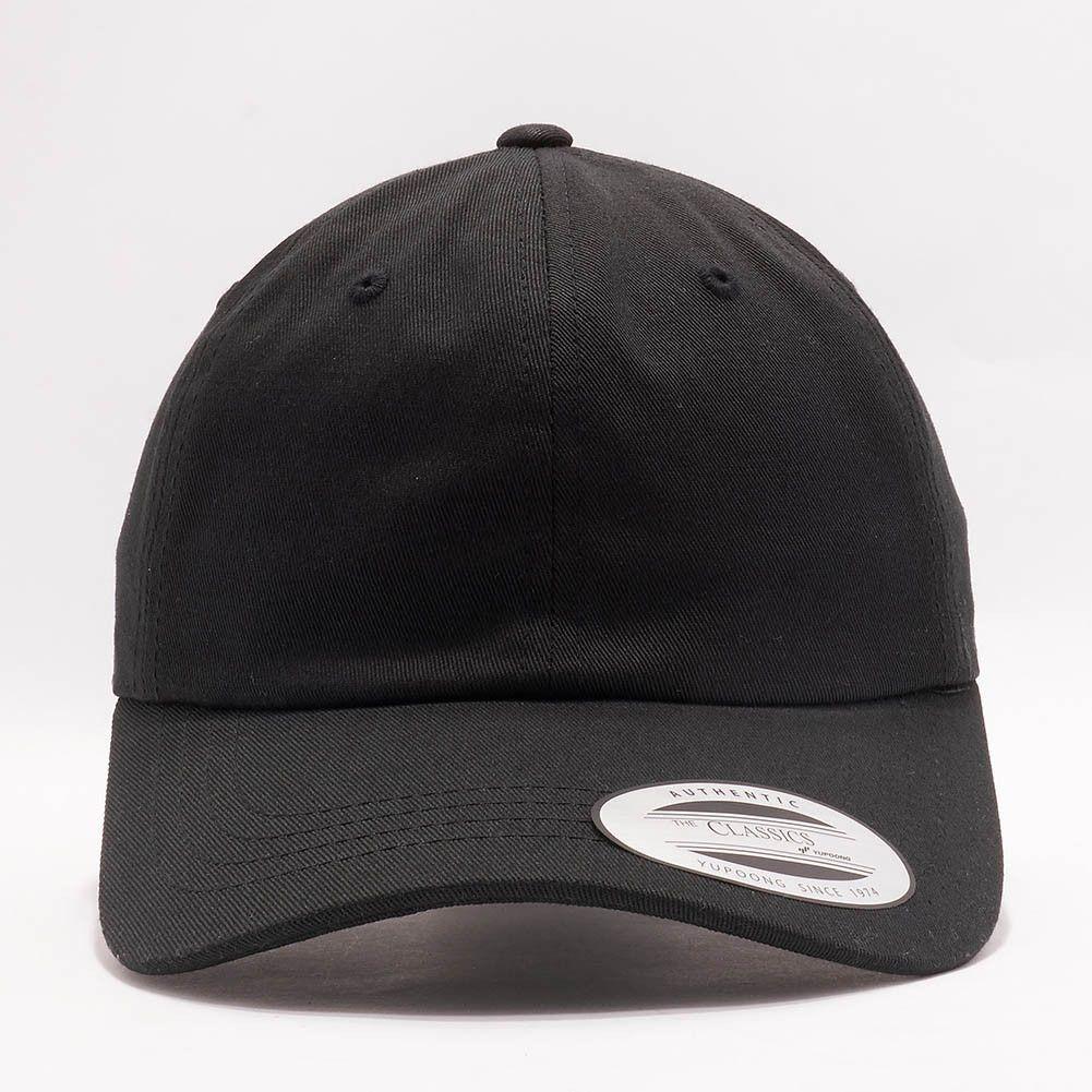 e087e988 Flexfit/Yupoong 6245CM Low Profile Cotton Twill (Dad Cap) [Unstructured]  [Black]