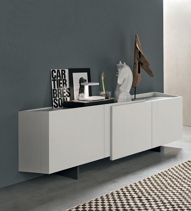 modernes sideboard design weiss matt grifflos alivar | Wohnzimmer ...