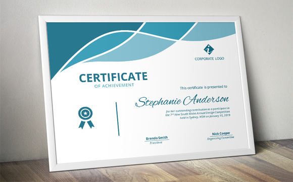 Modern Docx Certificate By Inkpower On @creativemarket