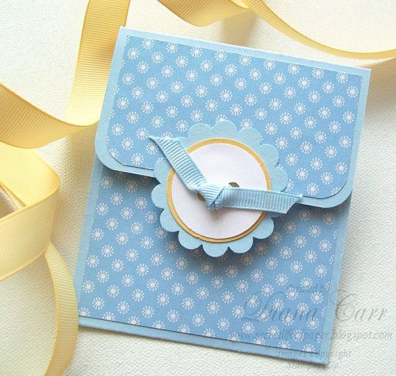 gift card holder baby blue pefect for shower by acarrdiancards, Baby shower invitation