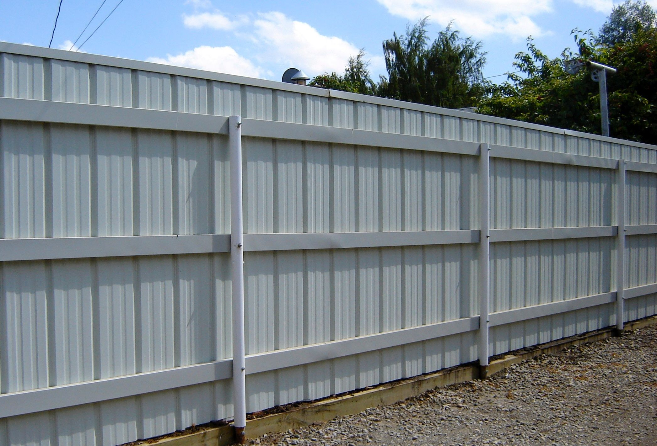 Metal Fence Ideas Corrugated Metal Fence Metal Fence