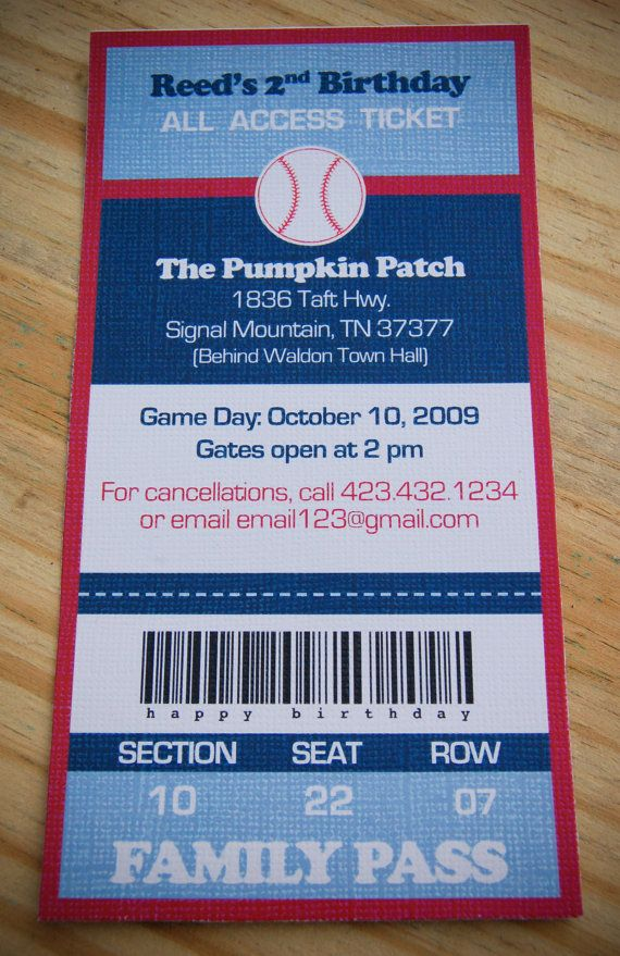 DIY Printable Invite Custom Baseball Birthday By Mysweetswirls 1800