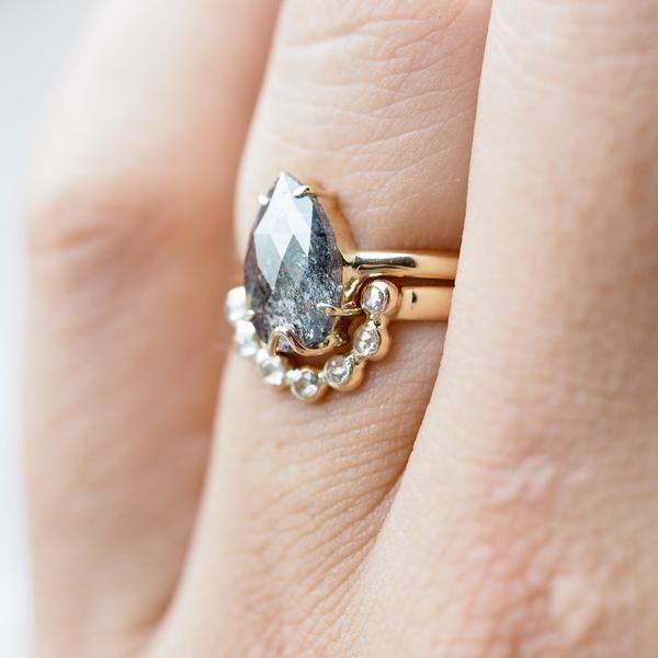 Dark Desires Salt and Pepper Diamond Ring Set Engagement