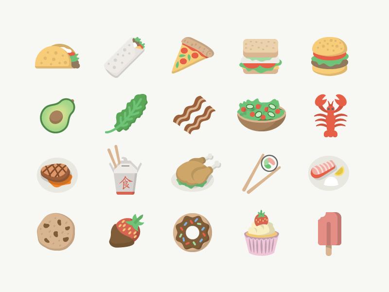 Food Emoji Emoji Food Stickers Badge Icon