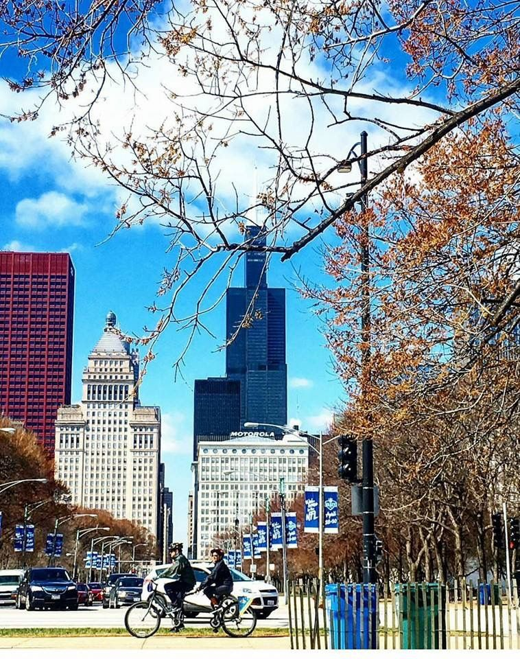 Beautiful skyline of Chicago in Spring (photo Jerry Escamilla)