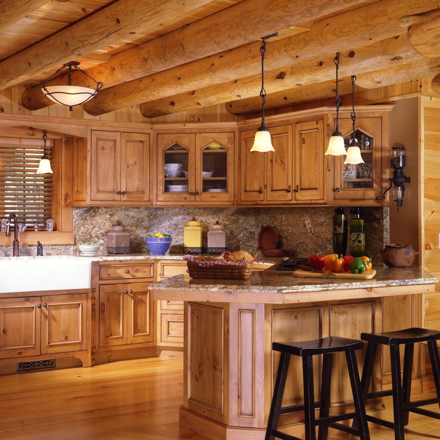 Log Cabin Kitchen   decoracion   Pinterest   Cocinas y Decoración