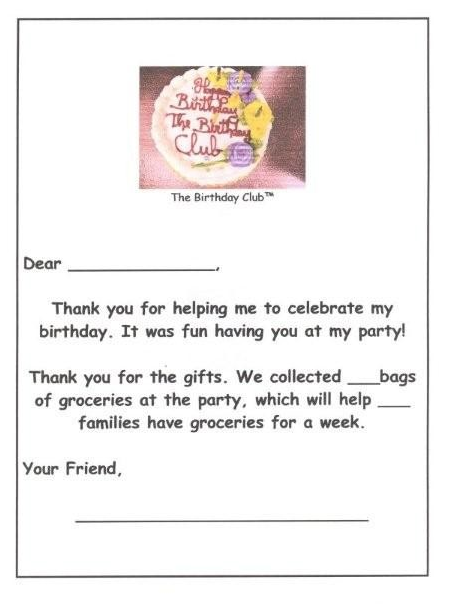 Download The Birthday Club Thank You Note Appreciation Messages