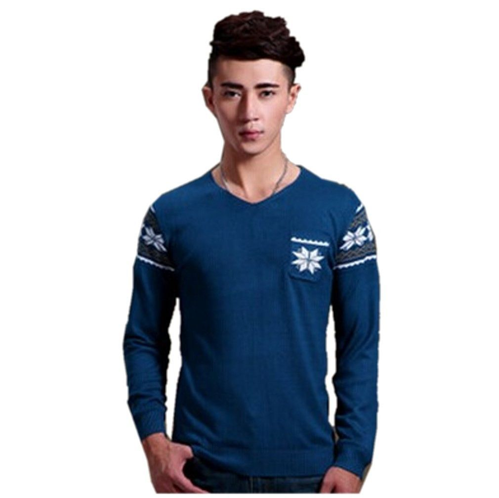 QualityUC Mens Winter Stylish European Designer Slim Fit Pullover Sweater Top