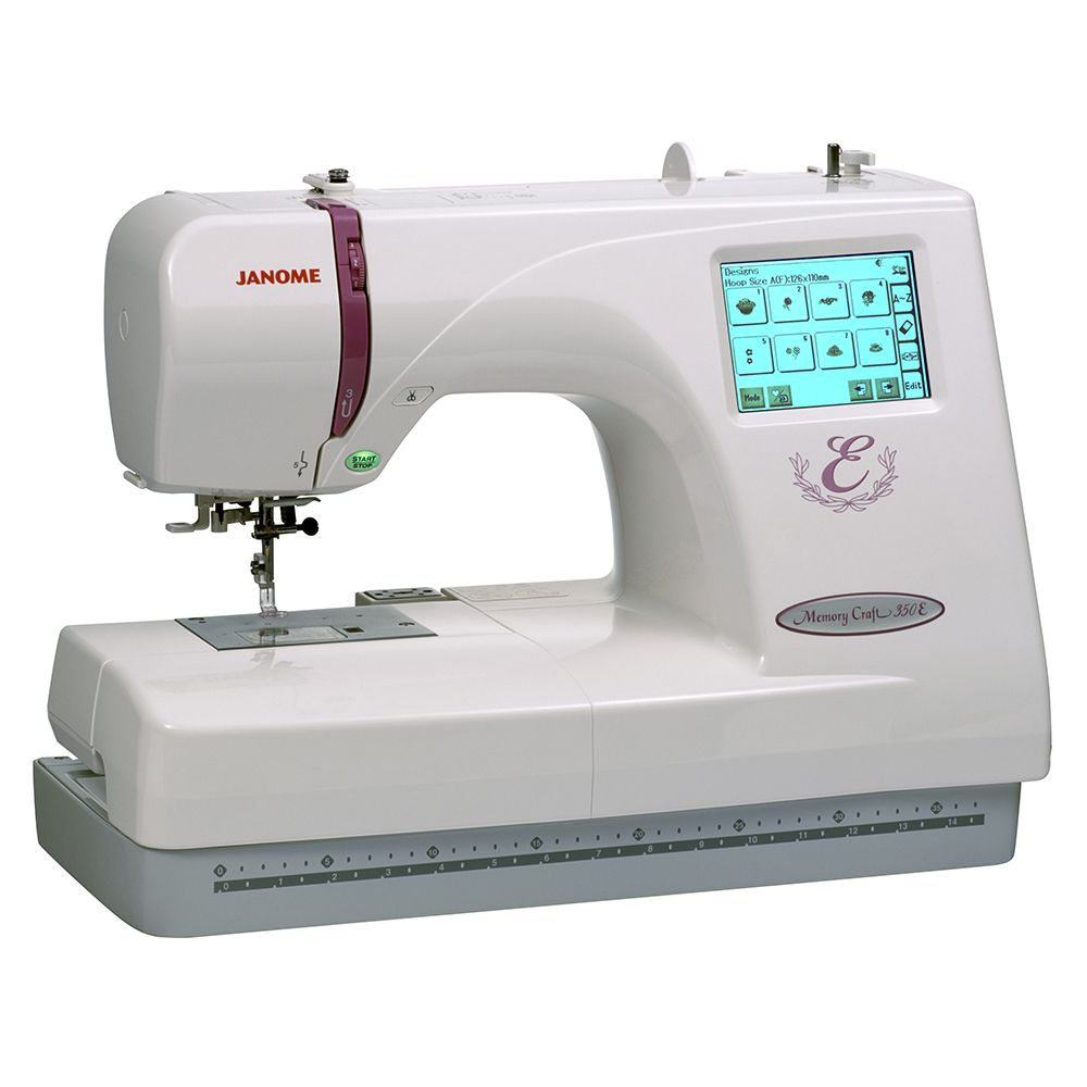 The Janome Memory Craft 350e Embroidery Only Model For Further