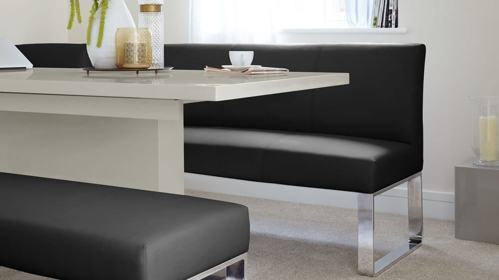 Awe Inspiring Sanza Grey Gloss And Loop 7 Seater Right Hand Corner Bench Uwap Interior Chair Design Uwaporg