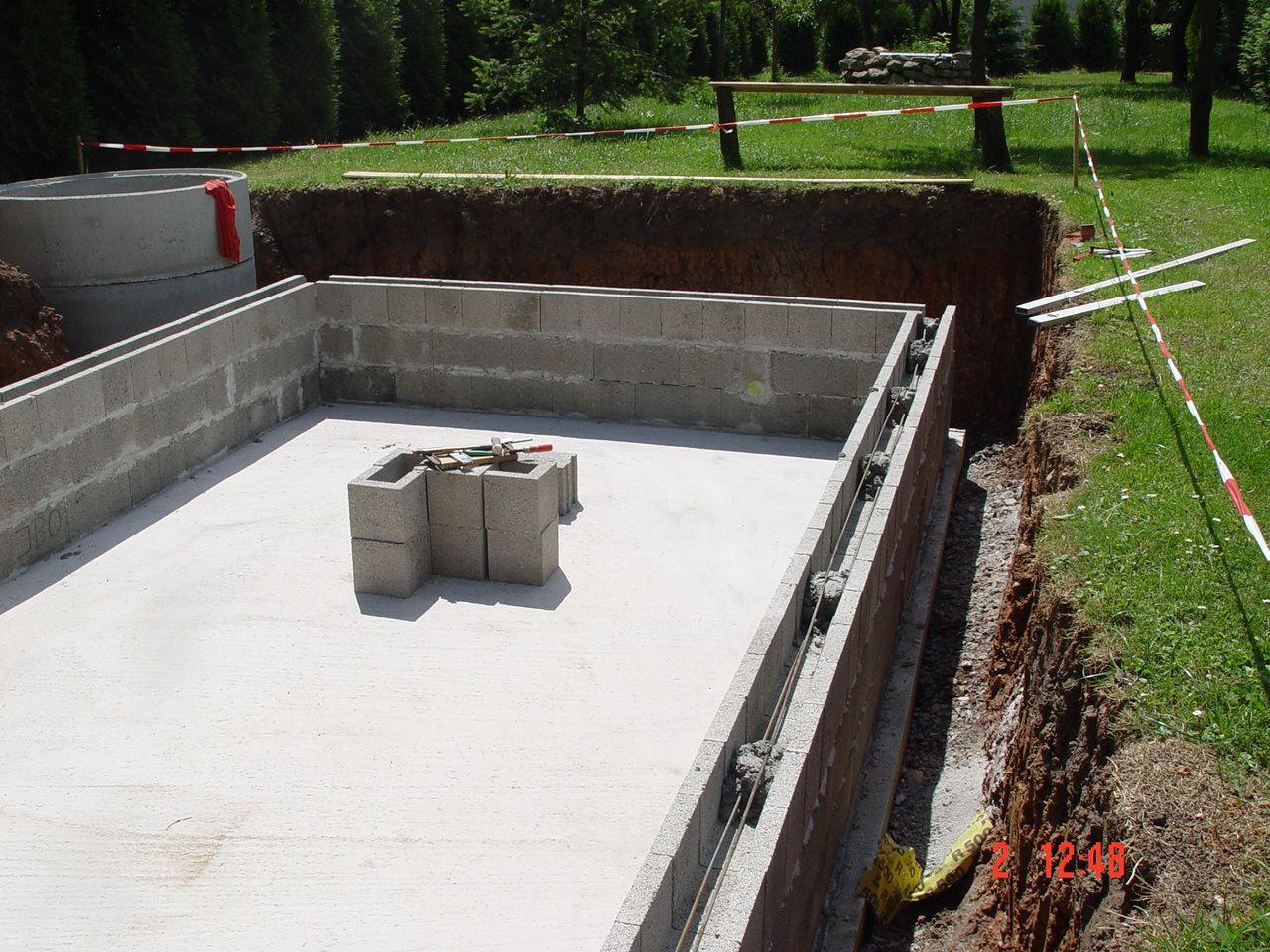 Pool Mauern Mit Betonschalsteinen Bauen Pond