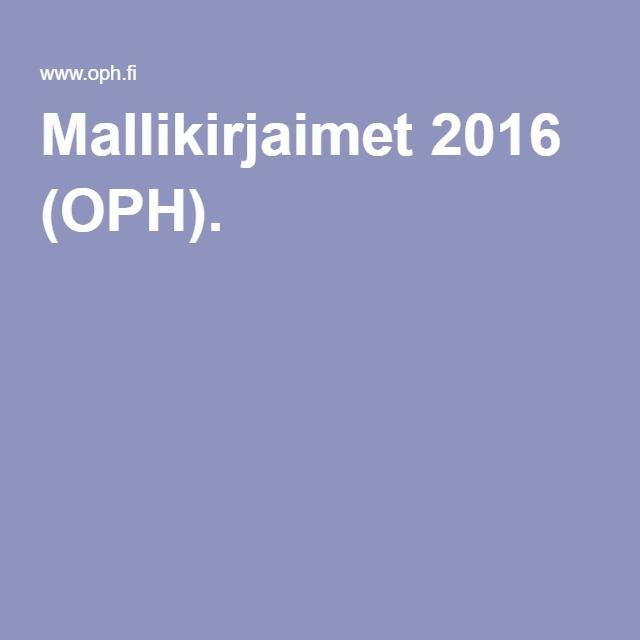 Mallikirjaimet 2016 (OPH).