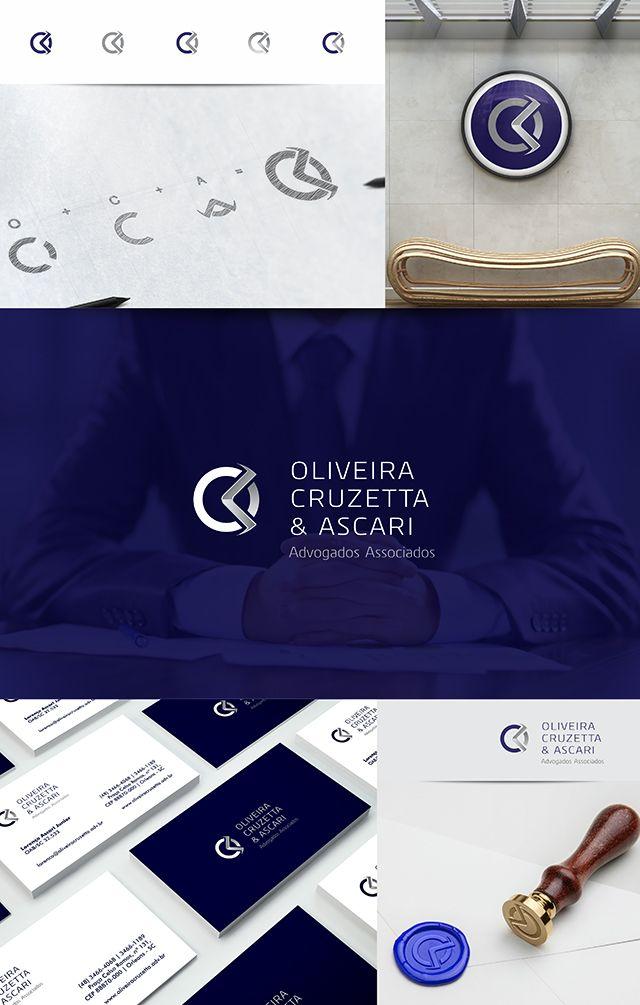 Rebranding da identidade visual completa para Oliveira Cruzeta & Ascari Advogados Associados  www.oliveiracruzetta.adv.br