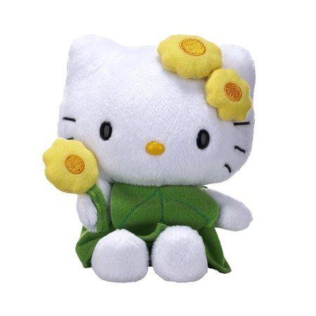 Hello Kitty Flower Plush - Leaf Dress