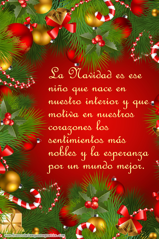 Postales navide as con mensajes de navidad para compartir - Tarjetas con motivos navidenos ...