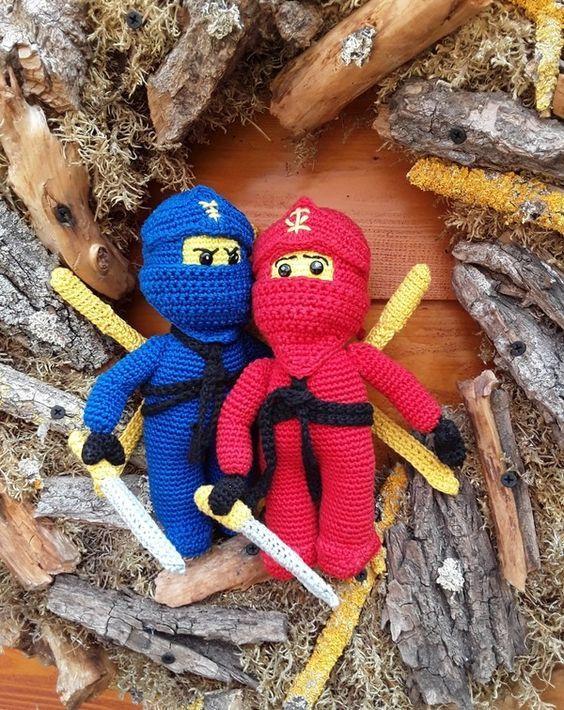 Ninja Häkelanleitung All My Amigurumi Crochet Lego Crochet Toys
