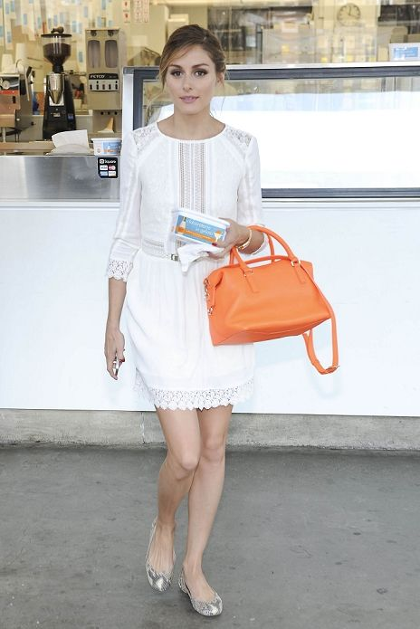Olivia Palermo summer street style with white dress