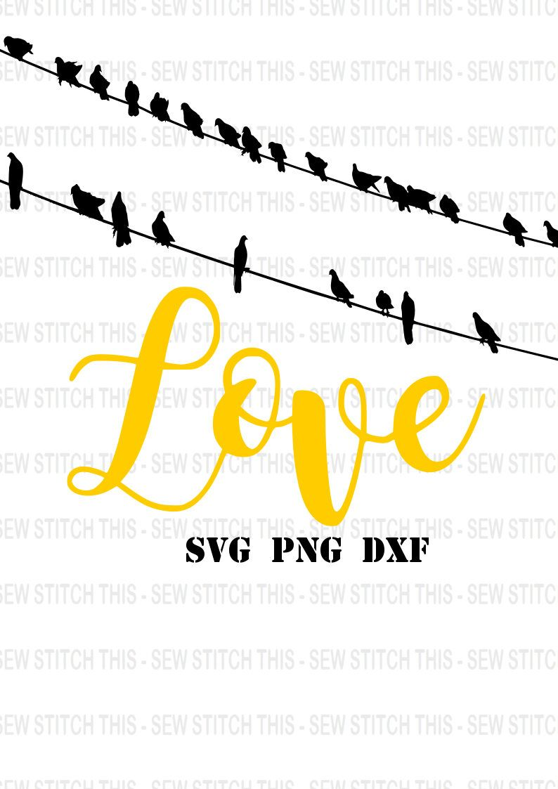 Love svg, Birds on a wire svg, Birds svg, Love birds svg, Family svg ...