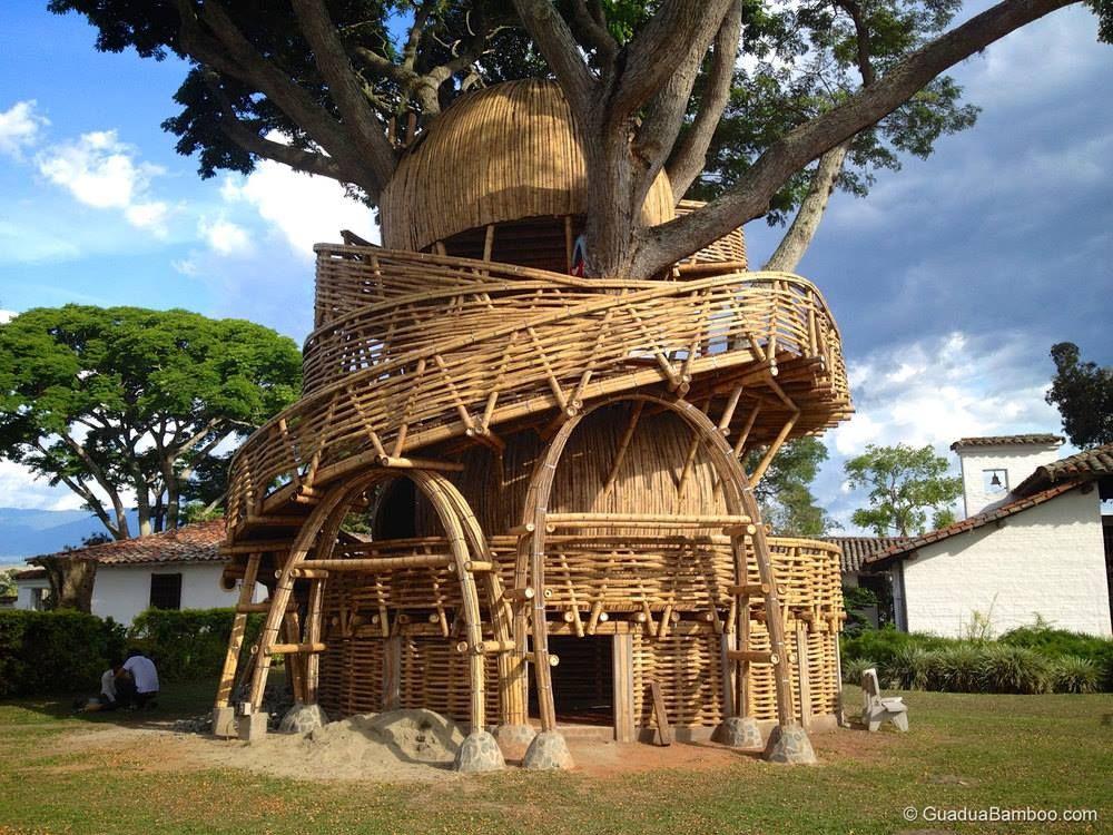 Casa de Bamb en Colombia  maderas y guadua  Pinterest