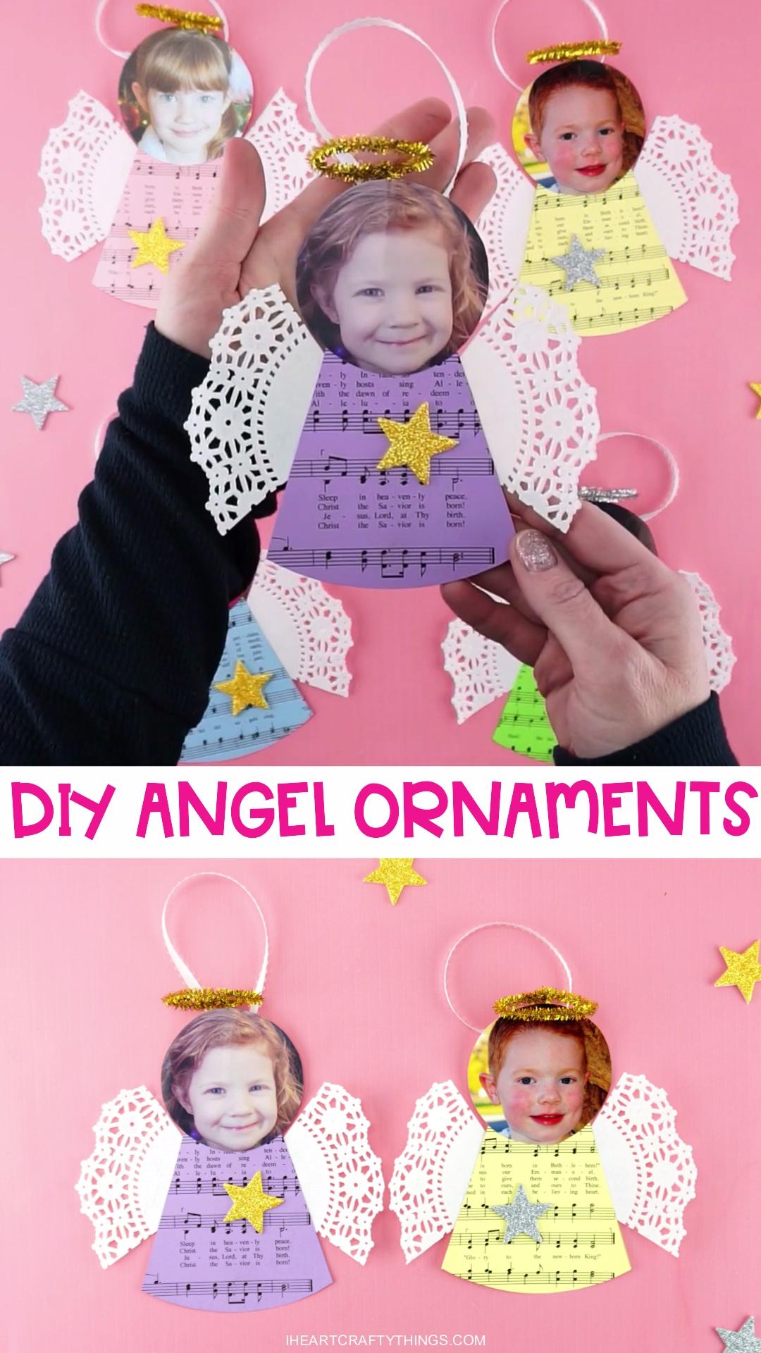 DIY Angel Photo Ornaments