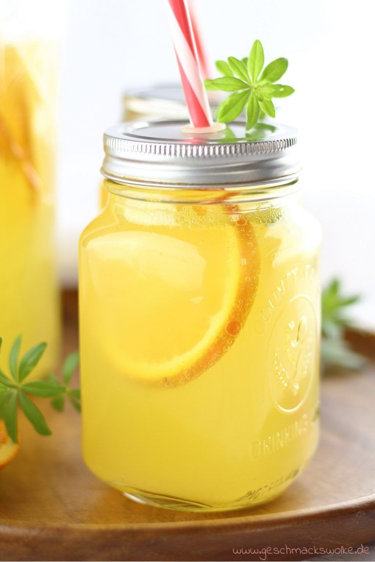 Erfrischungsgetränk: Orangen-Waldmeister-Limonade ⋆ Geschmackswolke #fruitsmoothie