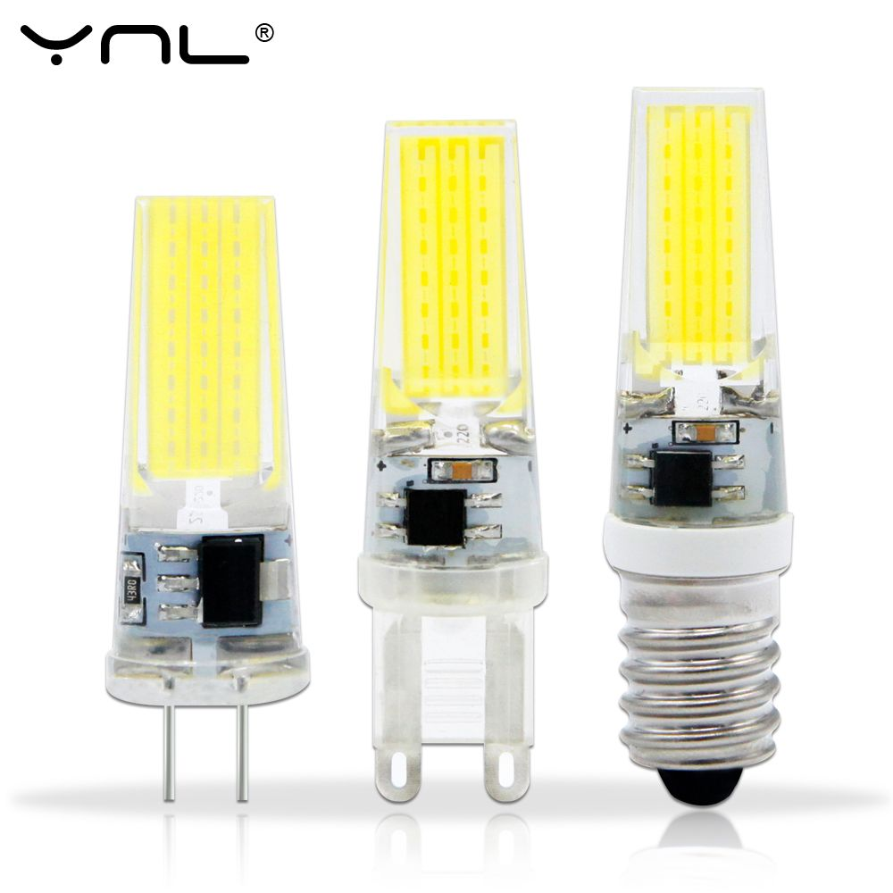Lampada Led Lampe G4 G9 E14 220 V Ac Dc 12 V Cob Bombillas Led Ampoule Ampoule Led E14 G9 G4 Cob Lumieres Remplacer 20 W Halogene G4 Crystal Chandelier Lighting Lamp Led Bulb