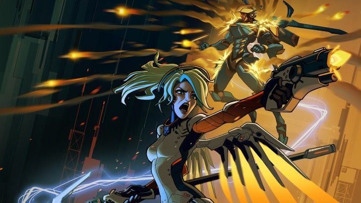 Mercy And Pharah Game Art Wallpaper Places To Visit Overwatch