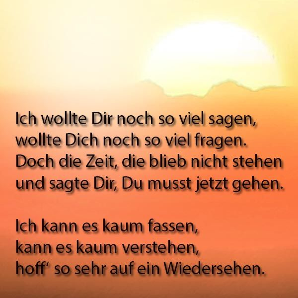 Trauerspruch Thoughtful Sayings Grief I Miss You Und Sad