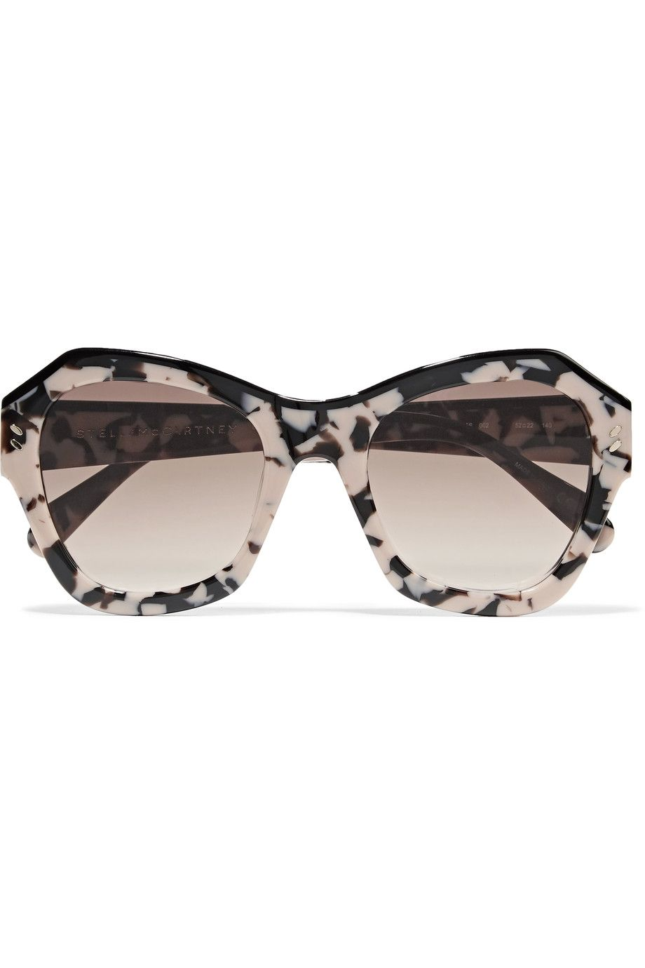 60a7f2da8625 STELLA MCCARTNEY D-frame acetate mirrored sunglasses.  stellamccartney