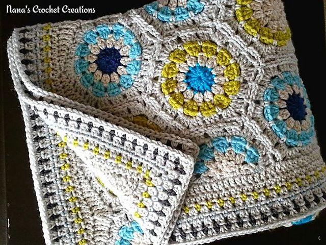Nana\'s Straight Hexagon Edge pattern by D Maunz | Hexagon Crochet ...