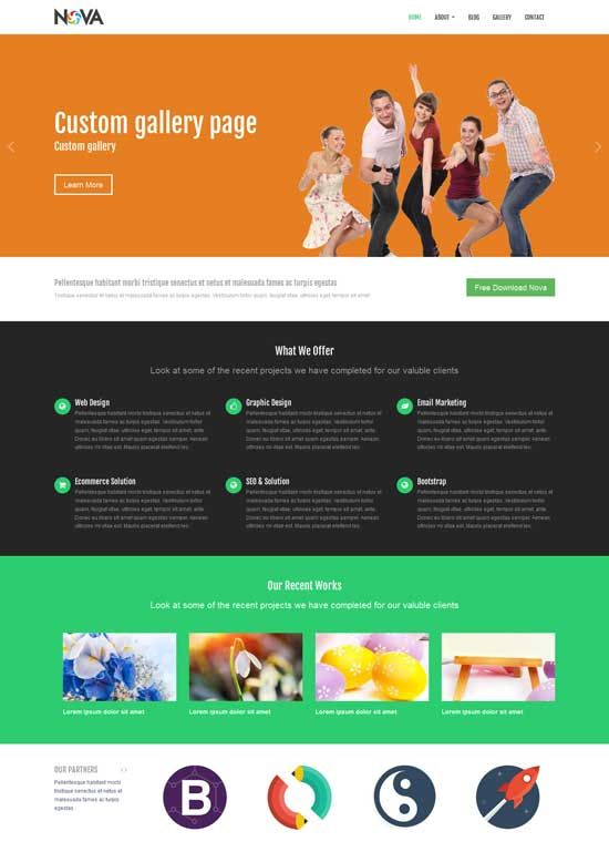 Bootstrap Website Templates 35 Free #bootstrap #html5 Themes #website #design #freebies  Free